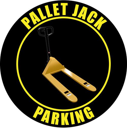 Pallet Jack Parking (Black) - Industrial Vinyl Floor Signs