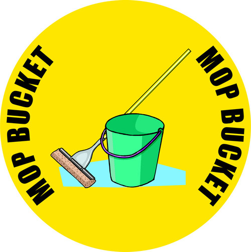 Mop Bucket Floor Sign