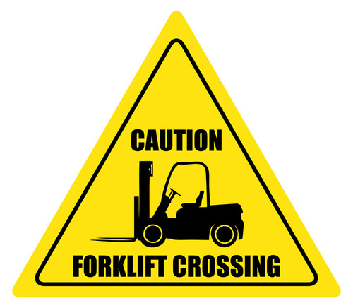 Forklift Crossing - Caution Sign