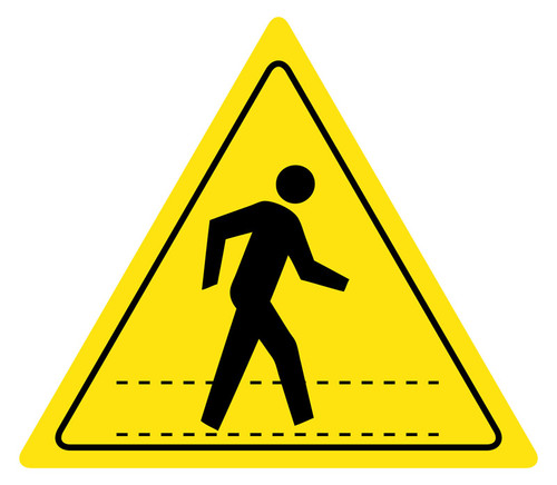 Pedestrian Crossing : Floor Sign