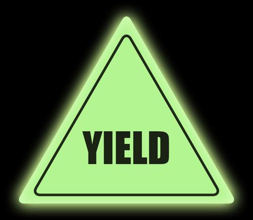 Glow in the Dark Yield Floor Sign