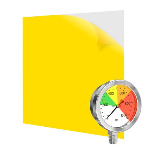 yellow transparent warning film