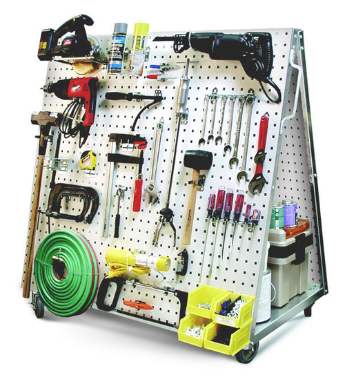 Mobile Tool Carts : 5S Mobile Pegboard (tools not included)