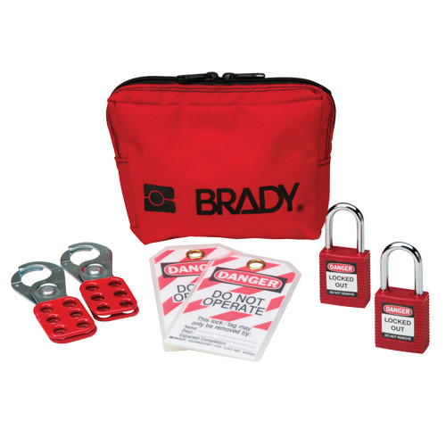 Personal Padlock pouch with safety padlocks