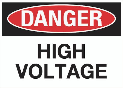 Danger: High Voltage Wall Sign