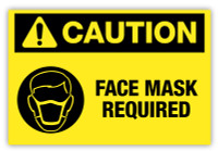 Caution - Face Mask Required Label Ver. 2