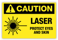 Caution - Laser Label