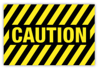 Caution Label (Striped)