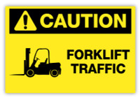 Caution - Forklift Traffic Label