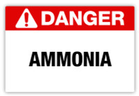 Danger - Ammonia Label