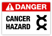 Danger - Cancer Hazard Label