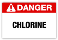Danger - Chlorine Label