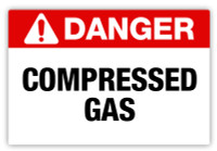 Danger - Compressed Gas Label