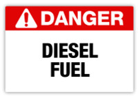 Danger - Diesel Fuel Label