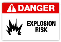Danger - Explosion Risk Label