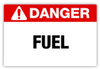 Danger - Fuel Label