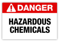Danger - Hazardous Chemicals Label