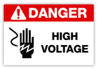 Danger - High Voltage Label
