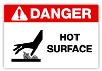Danger - Hot Surface Label