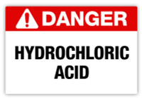 Danger - Hydrochloric Acid Label
