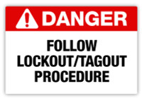 Danger - Lock Out Tag Out Label