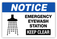 Notice - Emergency Eyewash Label