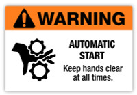 Warning - Automatic Start Label