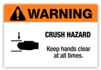 Warning - Crush Hazard Label
