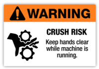 Warning - Crush Risk Label