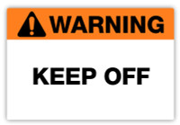 Warning - Keep Off Label