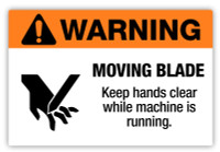 Warning - Moving Blade Label