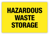 Hazardous Waste Storage Label