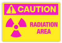 Caution - Radiation Area Label