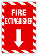 Fire Extinguisher (Vertical) Label