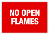 No Open Flames Label