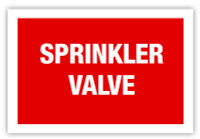Sprinkler Valve Label