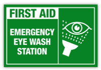 Emergency Eye Wash Label
