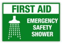 Emergency Safety Shower Label