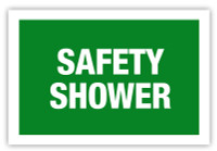 Safety Shower Label