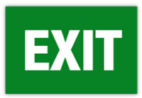 Exit Label (Green)