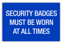Security Badges Label