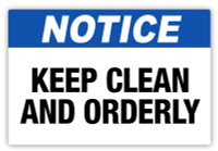 Notice - Keep Clean Label
