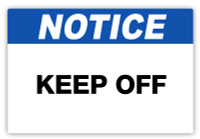 Notice - Keep Off Label