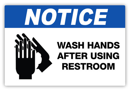 notice wash hands label creative safety supply. Black Bedroom Furniture Sets. Home Design Ideas