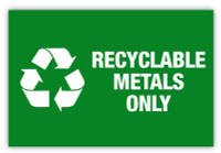 Recyclable metals only