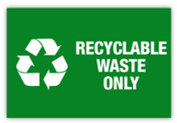 Recyclable Waste Only Label