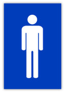 Men's Restroom Label