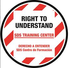 SDS Training Center floor sign