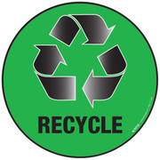 Recycle Green Floor Sign