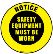Notice Safety Equipment Floor Sign